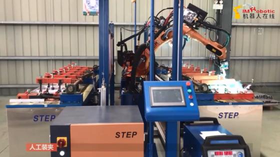 金属加工行业_铝模板焊接_新时达机器人