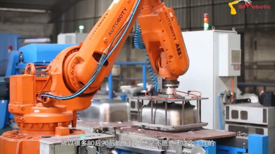 消費品行業_佛山櫻奧廚具打磨應用_ABB機器人