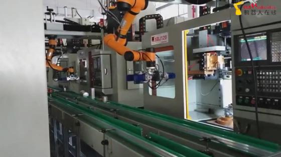 机床管理行业_软爪上下料_遨博机器人