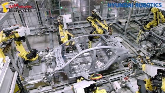 汽车工业_点焊_现代机器人