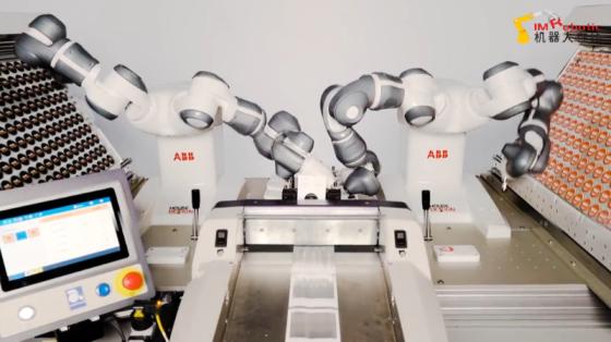 3C&家电行业_组装手机支架_ABB YuMi双臂协作机器人