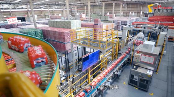 食品饮料行业_南京可口可乐工厂码垛搬运_ABB机器人