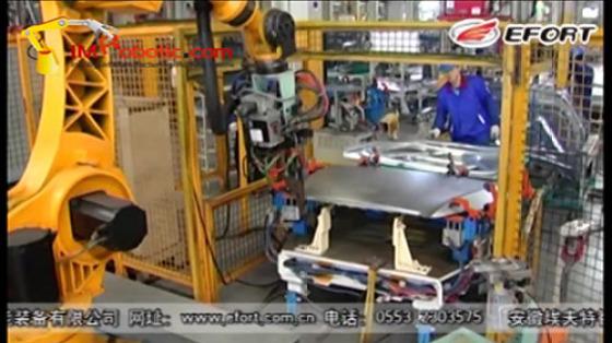 汽车工业行业_白车身/点焊/发动机盖_埃夫特机器人