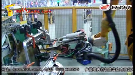 汽车工业行业_白车身/点焊/后背门_埃夫特机器人
