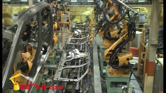汽车工业行业_白车身/主线侧围线点焊_埃夫特机器人