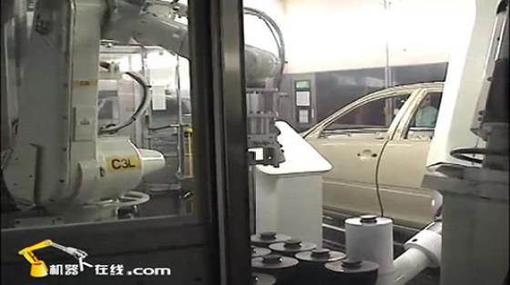 汽车工业行业_整车喷涂_川崎机器人 4