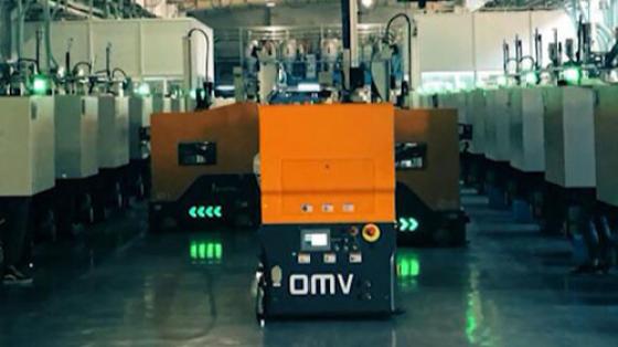 【匯聚案例】全向移載平臺注塑機上下料OMV系統項目