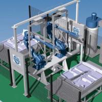 立式固定臺雙工位機器人水切割系統