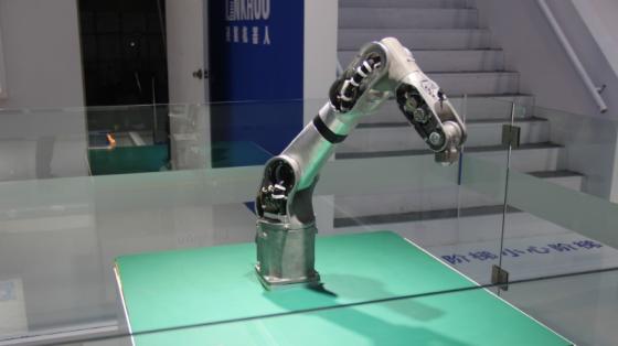 2019工博会_灵猴七轴工业机器人展示