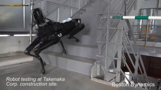 波士顿动力系列:SpotMini导航和勘测东京建筑工地