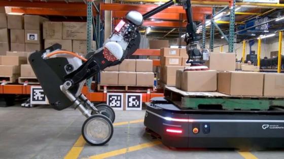 波士顿动力系列:双轮机器人Handle与物流机器人搭档