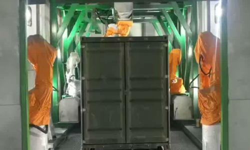 集装箱多工位自动化喷涂--清研同创机器人